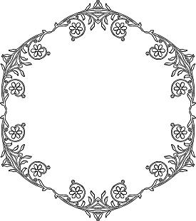 Floral Polygon Border Coloring Page