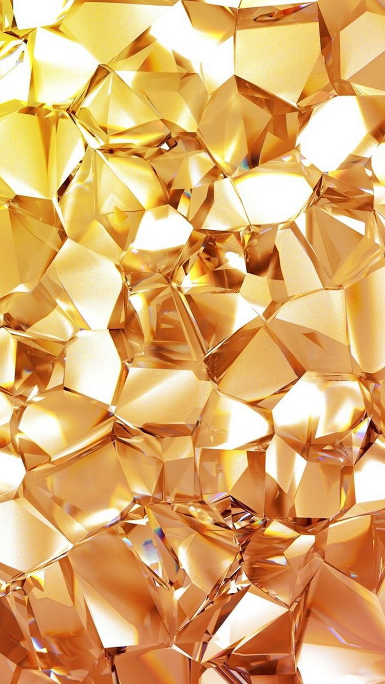 ↑↑TAP AND GET THE FREE APP! Shining Shining Unicolor Yellow Gold Sparkle Glitter HD iPhone 5 Wallpaper