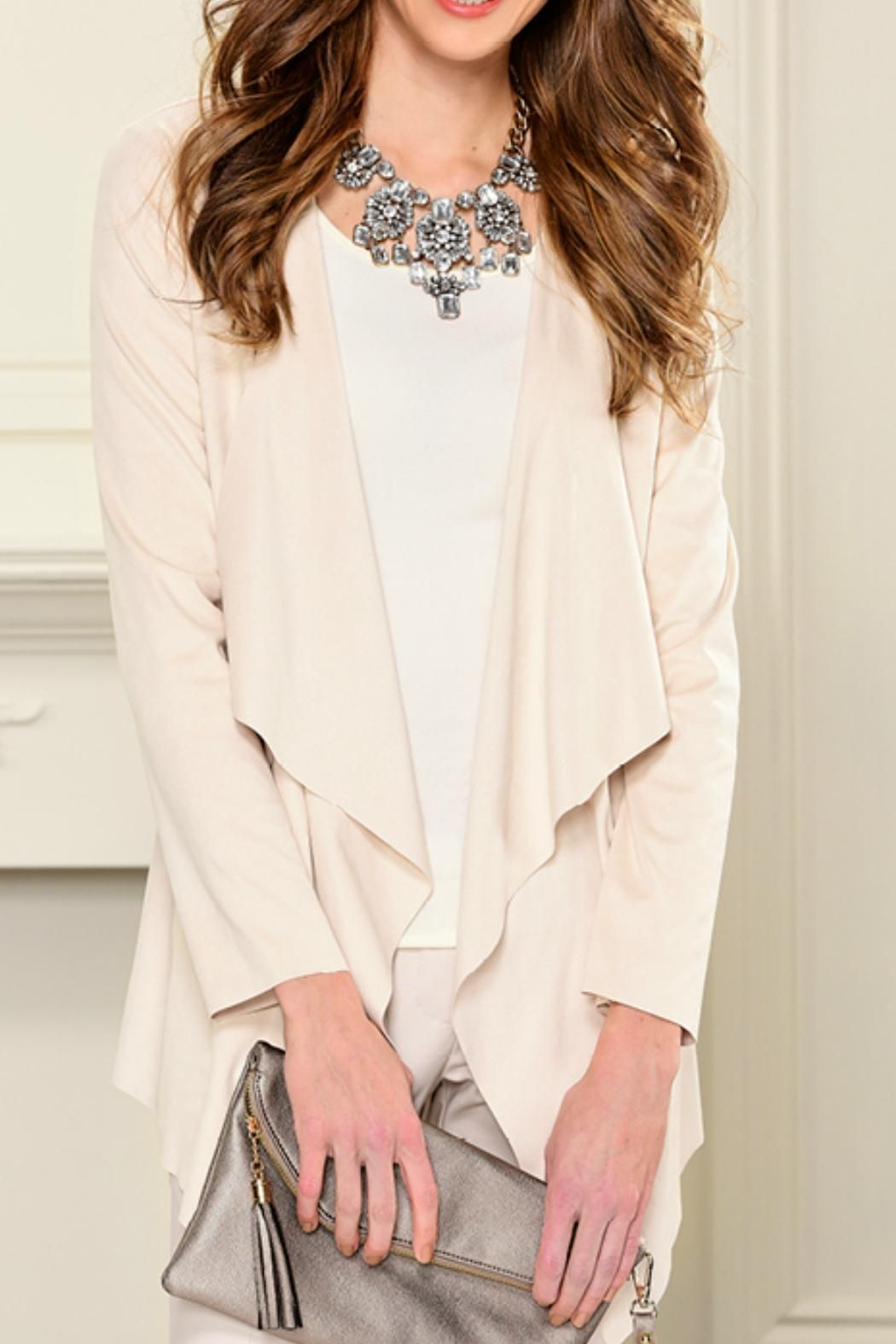 Charlie Paige Faux Suede Cardigan Sweater | Open cardigan, Thighs ...