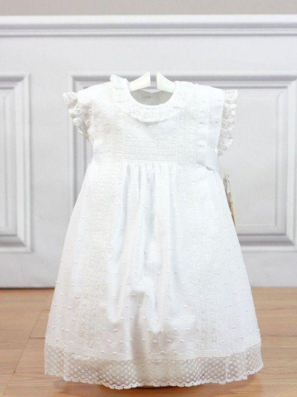 Vestido plumeti blanco entredos triple 2951 Belan Vestidos Blancos 0cef8f7e0897