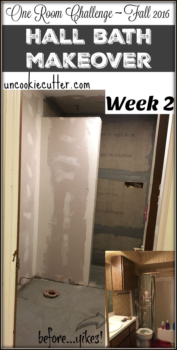 Hall Bathroom Makeover - ORC Week 2