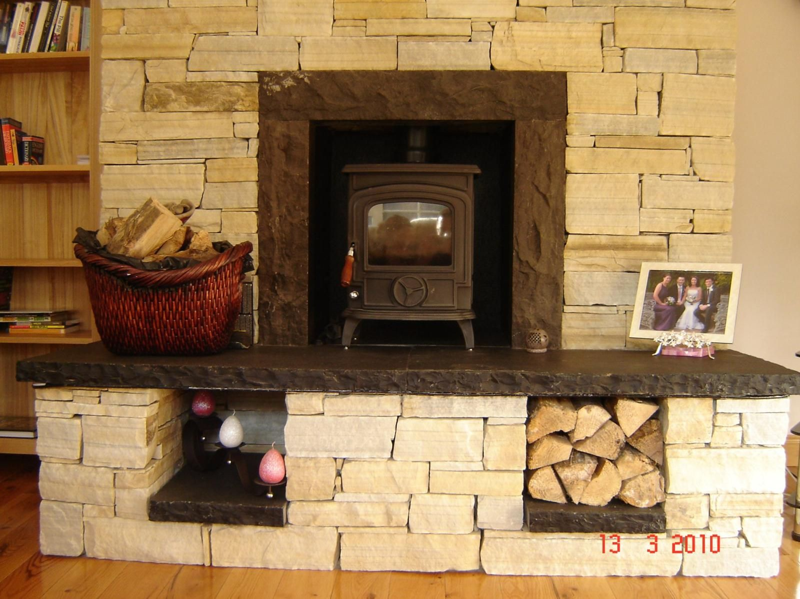Stones Fireplaces gold quartzite natural stone fireplace | natural stone fireplaces