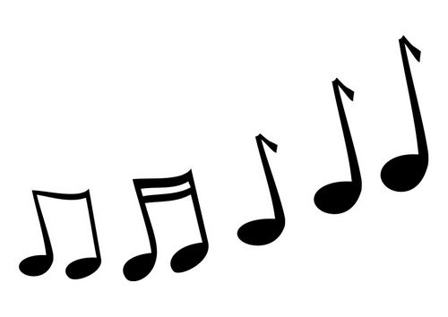 Malvorlage Musiknoten Ausmalbild 25733 Musiknoten Musik Vorlagen