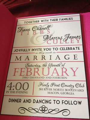 My DIY Invitations with Photoshop and VistaPrint :  wedding black diy invitations pink white Invite