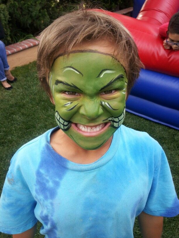The hulk, face painting