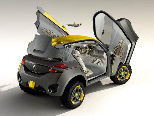 Renault Kwid mit Drohne