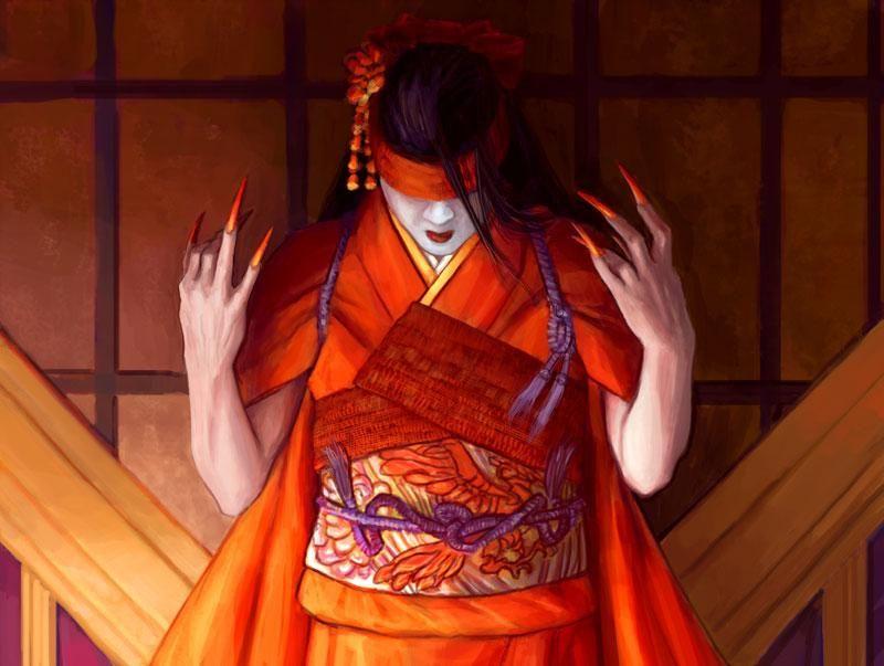 Asako Kaitoko by Drew Baker for Legend of the Five Rings