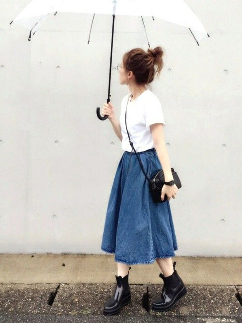 apon|GUのデニムスカートを使ったコーディネート - WEAR