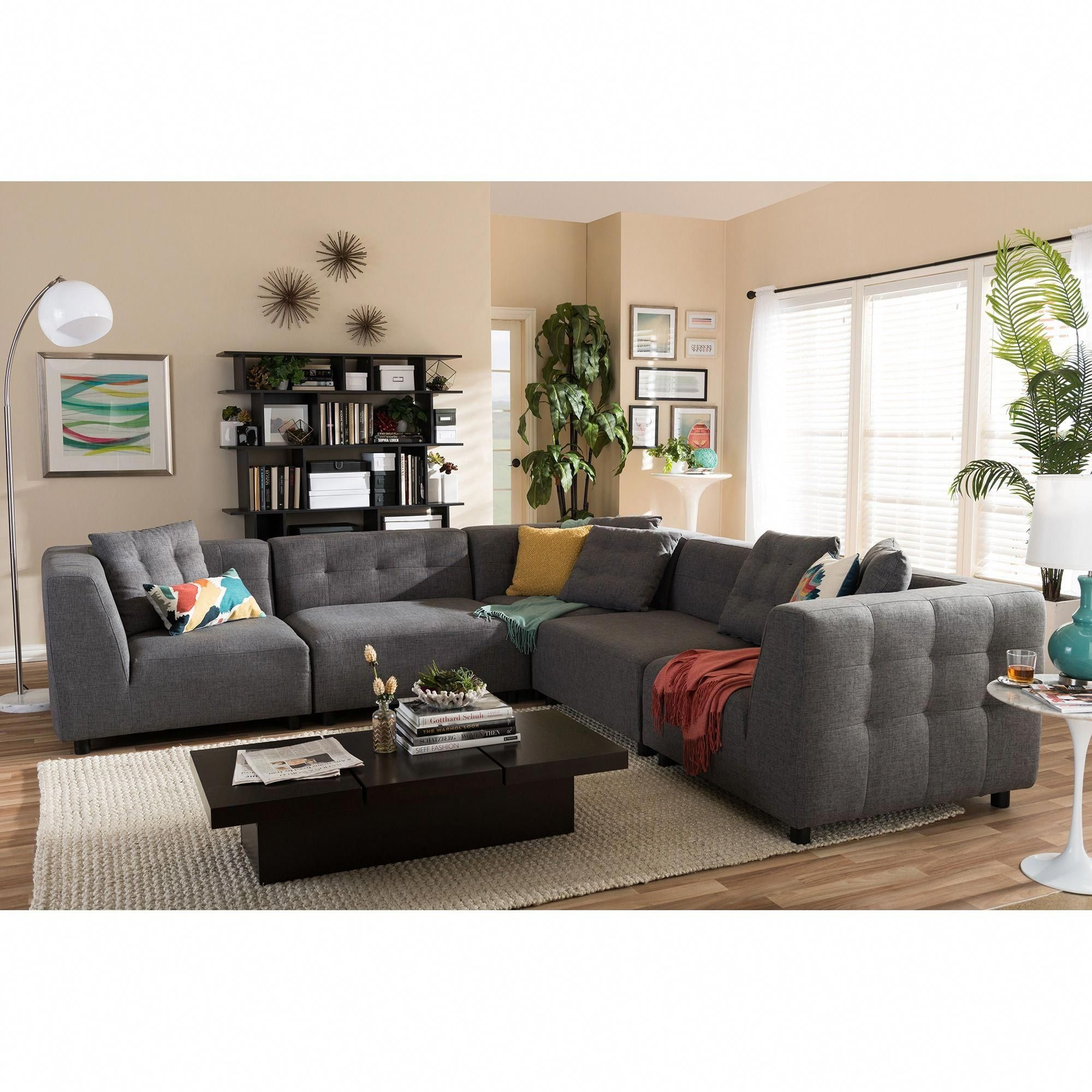 This Alcoa Sectional Sofa Consists Of Five Separate Pieces That Can Be Rearranged To Create The Secti Modern Sofa Sectional Sectional Sofa Sectional Sofa Couch