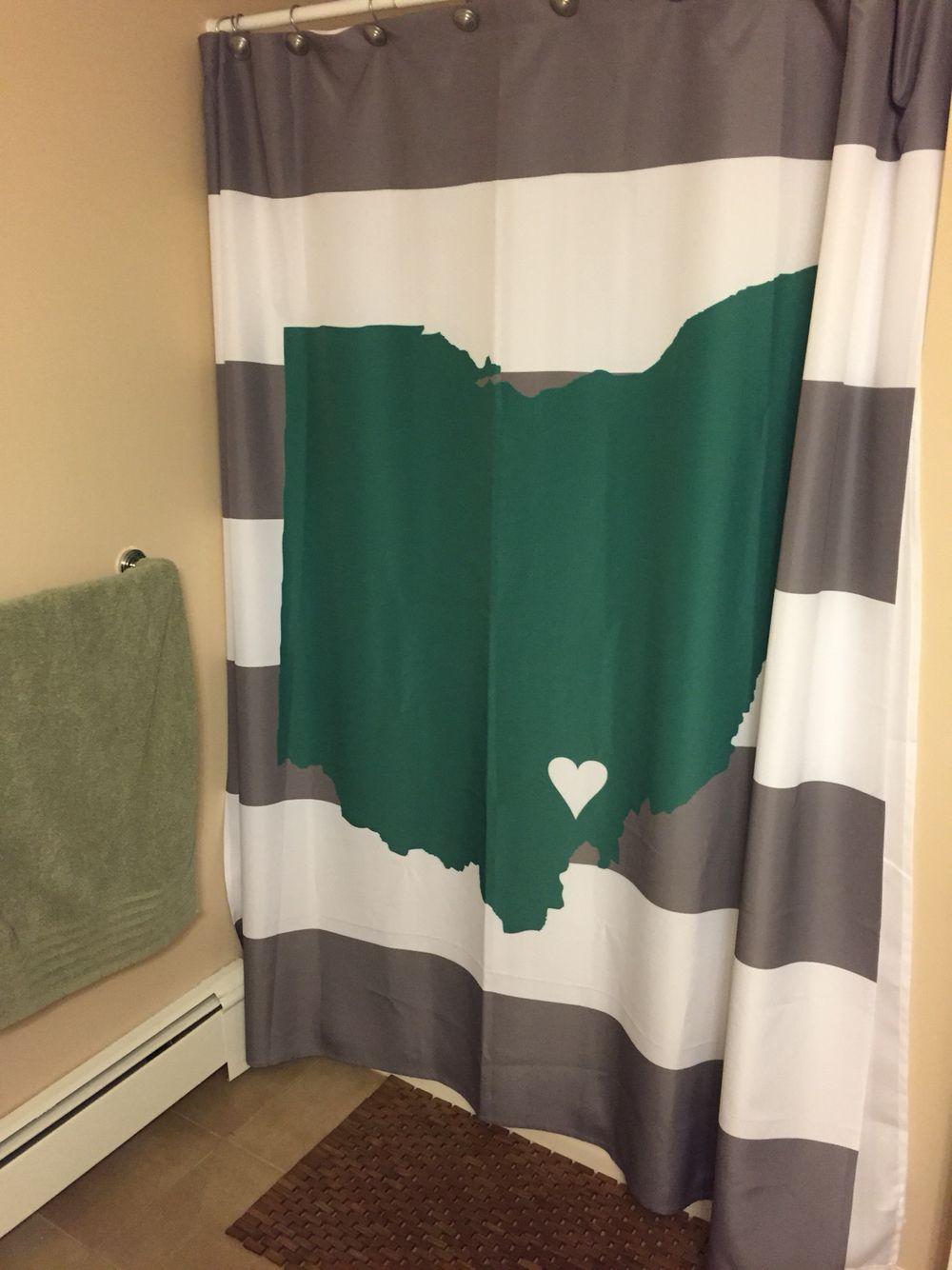 Ohio University shower curtain. We Athens.