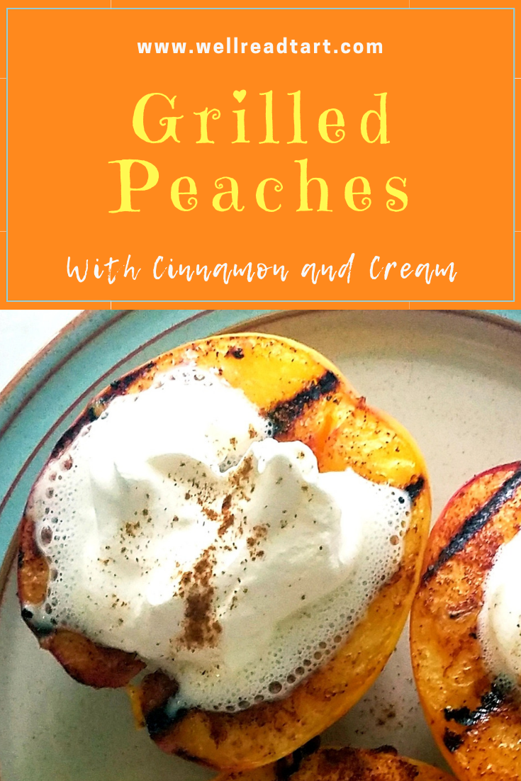 Grilled Peaches with Cinnamon and Cream Grilled Peachaes with Cinnamon and Cream are a delicious and easy summer dessert. Perfect for indoor or outdoor grilling.