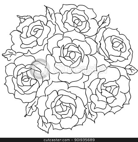 coloring rose bouquets bing images