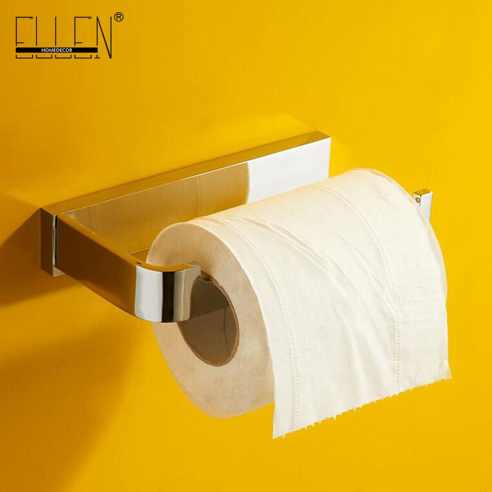 Solid Brass Toilet Paper Holder Chrome Finished Bathroom Accessories ...