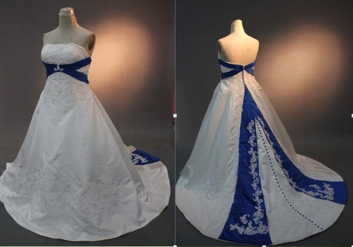Royal Blue Wedding Dress Rw09 Royal Blue And White Wedding Dresses