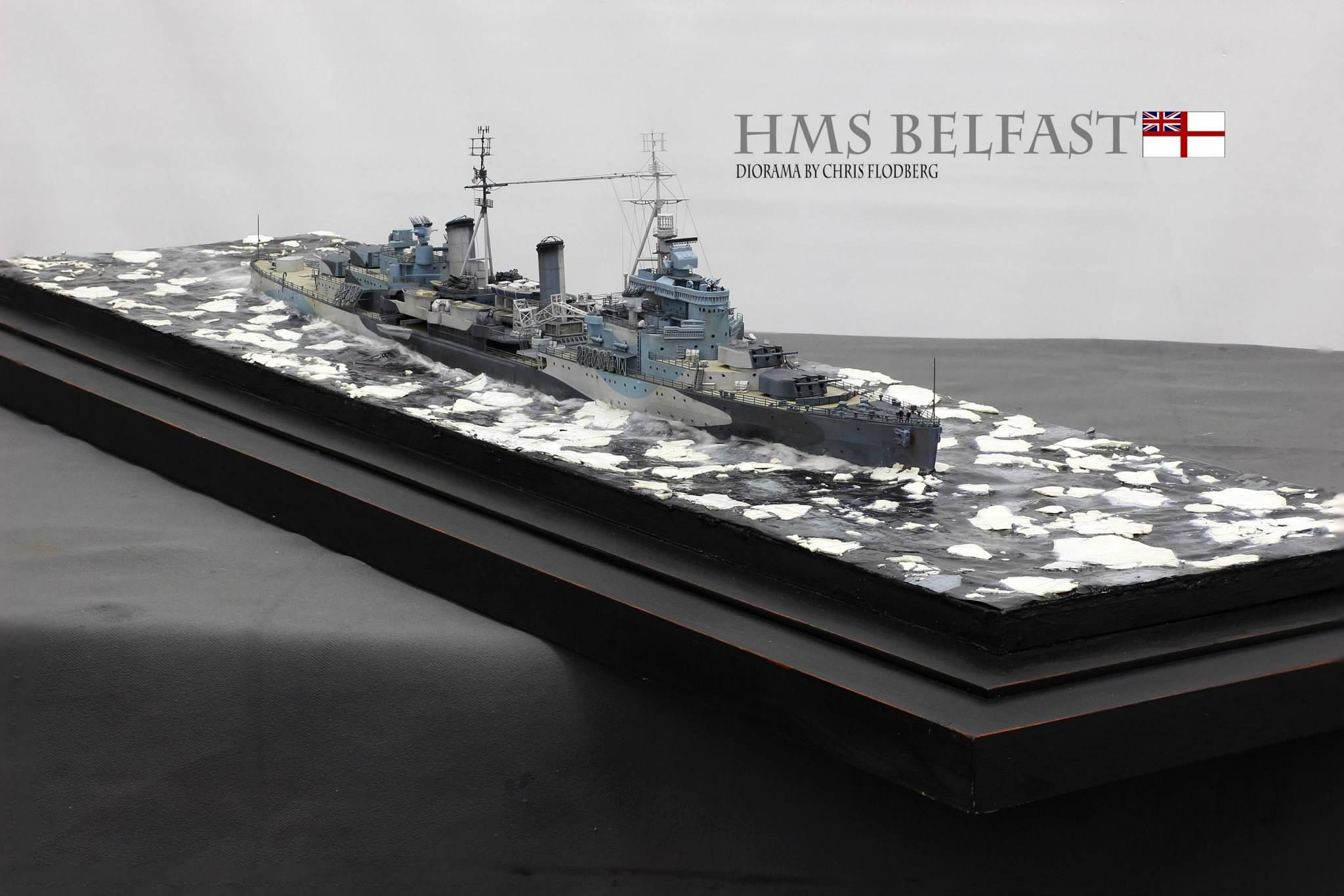 Aircraft carrier models large scale - Hms Belfast 1 350 Chris Flodberg Diorama Ideasmodel Shipsaircraft Carrierscale