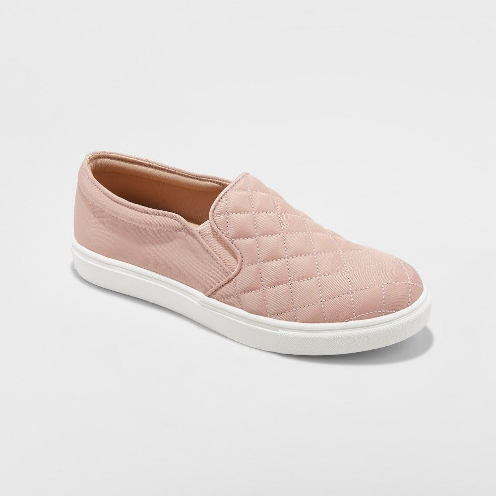 9cb6f74e182e Women s Reese Wide Width Quilted Sneakers - A New Day Blush 6.5W ...