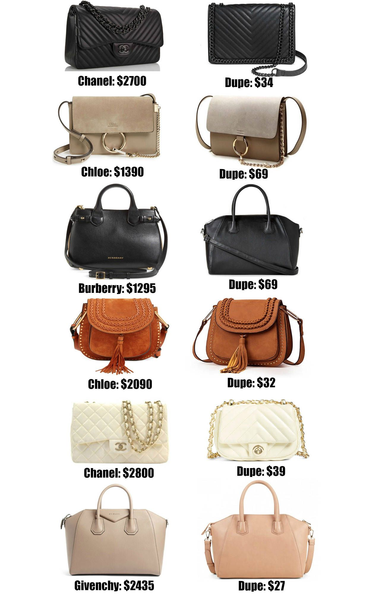 66db4ab128 Fashion blogger Mash Elle shares the ULTIMATE designer bag dupe guide! Over  20+ of the best designer dupes most under $50!