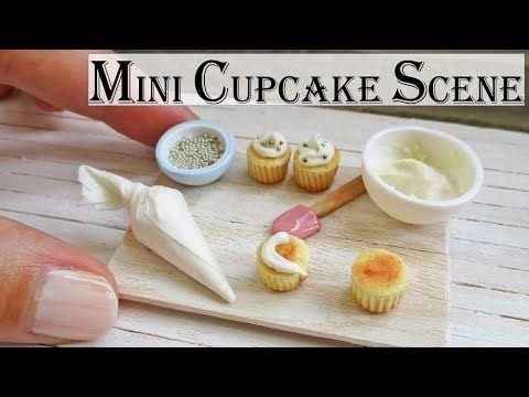 Miniature Cupcake Decorating Scene Tutorial (Creating Dollhouse Miniatures) #dollhouseminiaturetutorials
