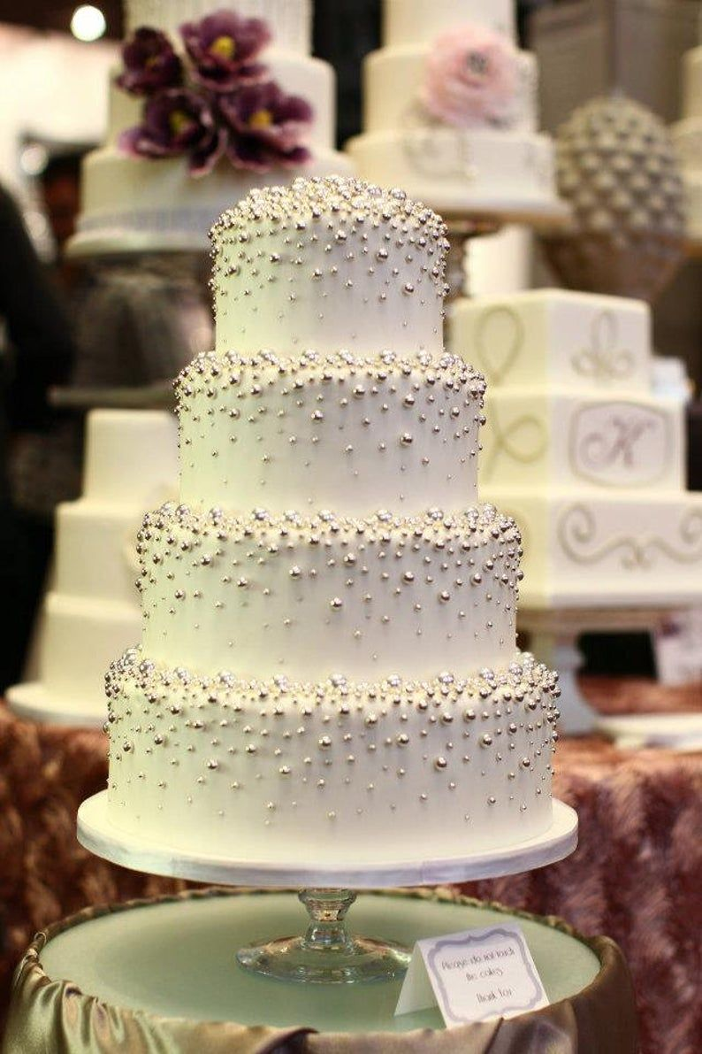 46++ Edible silver pearls for wedding cake trends