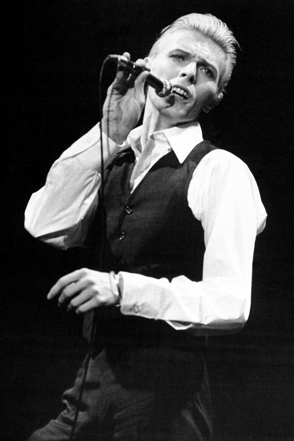 David Bowie at Madison Square Garden, 1976. From New York Daily News/Getty Images.
