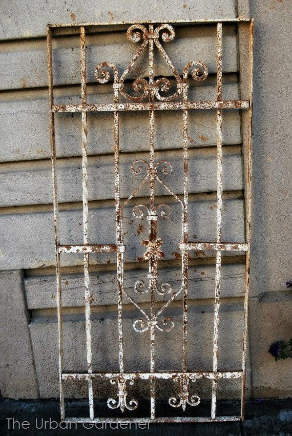 Antique Wrought Iron Fence Salvage With Images Wrought Iron