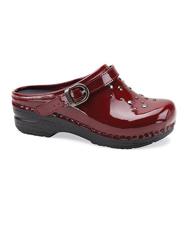 Loving this Red Patent Leather Jemma Clog - Kids on #zulily! #zulilyfinds