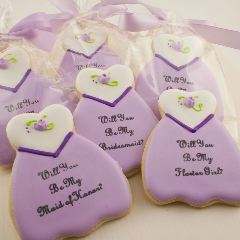 Ways To Ask: Will You Be My Bridesmaid? #Cookies #Bridesmaids ...