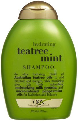 Ogx Hydrating Tea Tree Mint Shampoo  Use once a week as a