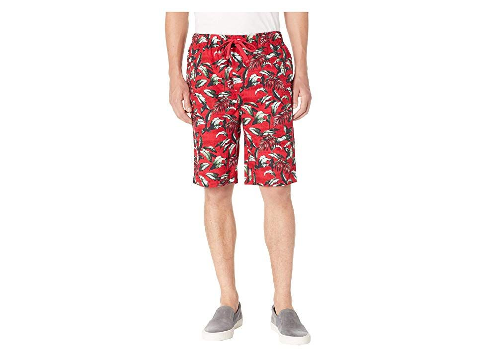 Tommy Bahama Island Washed Cotton Woven Jam Shorts Big Leaves Red Mens Pajama Take a daily vacation in the Tommy Bahama Island Washed Cotton Woven Jam Shorts Lightweight...