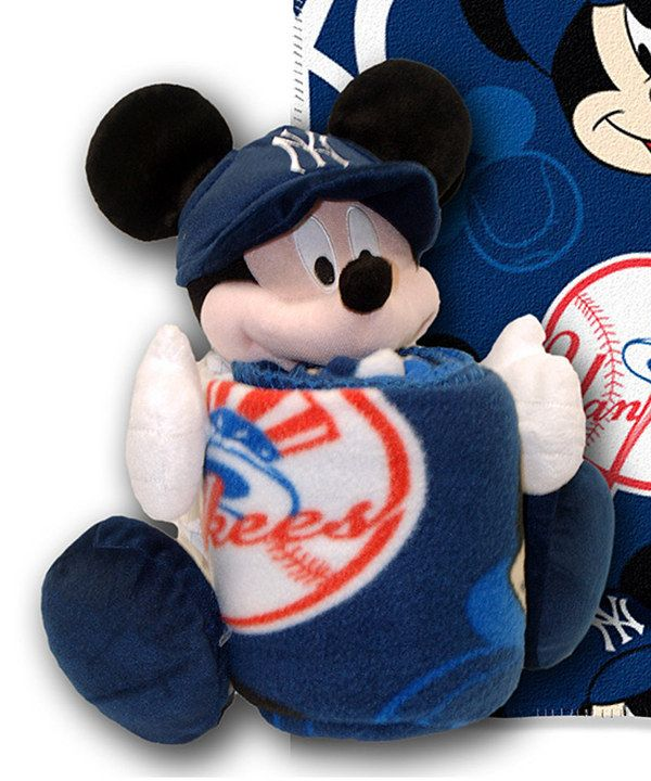 Look what I found on #zulily! New York Yankees Mickey Mouse Plush Toy & Throw Blanket by The Northwest Company #zulilyfinds