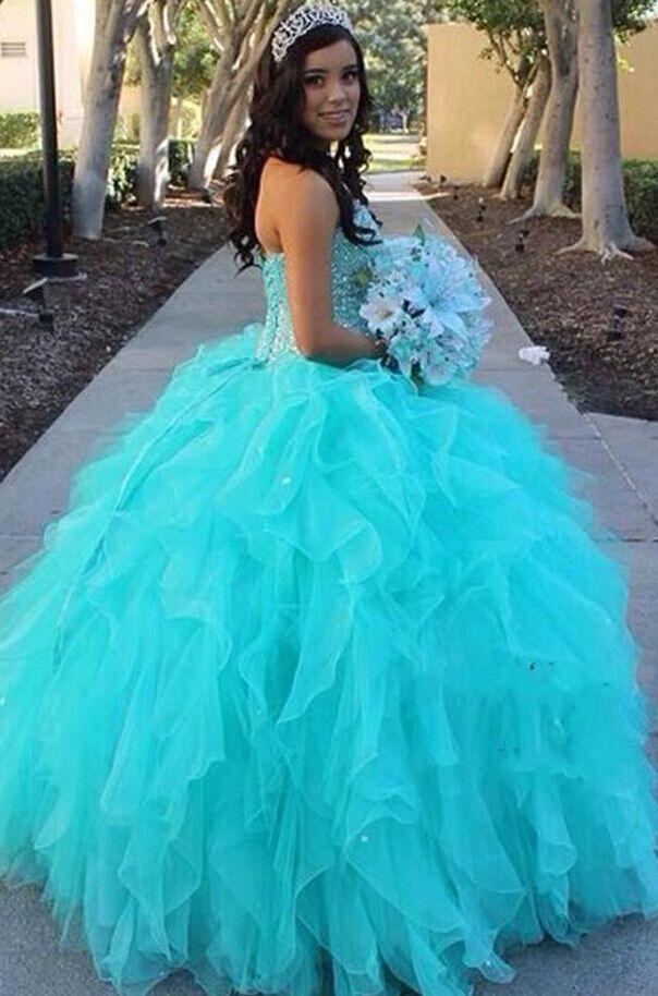 vestidos de ubicacion muy bonito en azul Gorgeous Quinceanera Dress ...