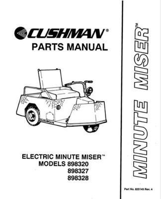 EZGO 825145 1990 1994 Parts Manual For Cushman Minute Miser