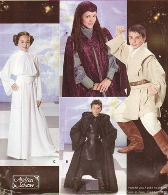 Simplicity 4426 SEWING PATTERN Kid\'s/Boy\'s/Girl\'s Star Wars Costume ...