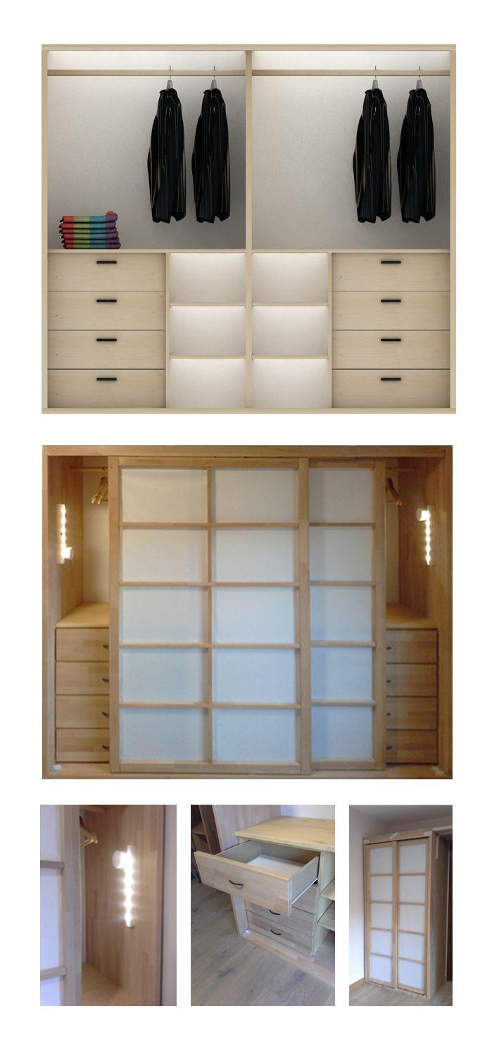 Armarios con puertas shoji realizados en alistonado de - Puertas shoji ...