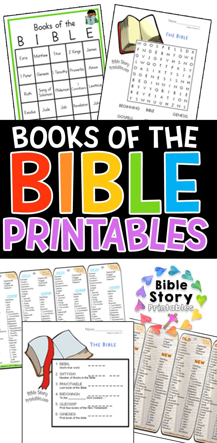 Books of the Bible Printables Childrens bible study