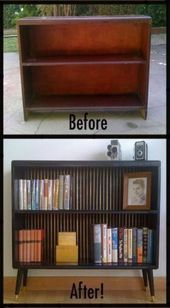 Best furniture makeover bookshelf thrift stores Ideas