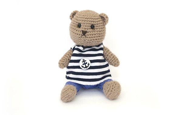 Amigurumi Teddy Bears : Teddy bear beige teddy bear amigurumi teddy bear boy crochet bear