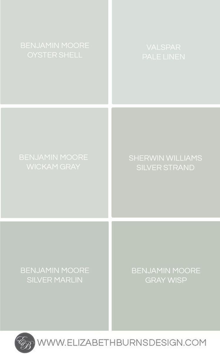 Elizabeth Burns Design - Benjamin Moore Oyster Shell, Valspar Pale Linen,  Benjamin Moore Wickam