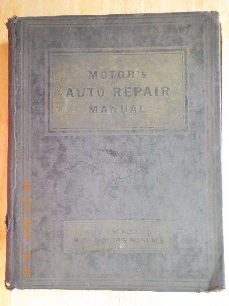 automobile engine repair manuals