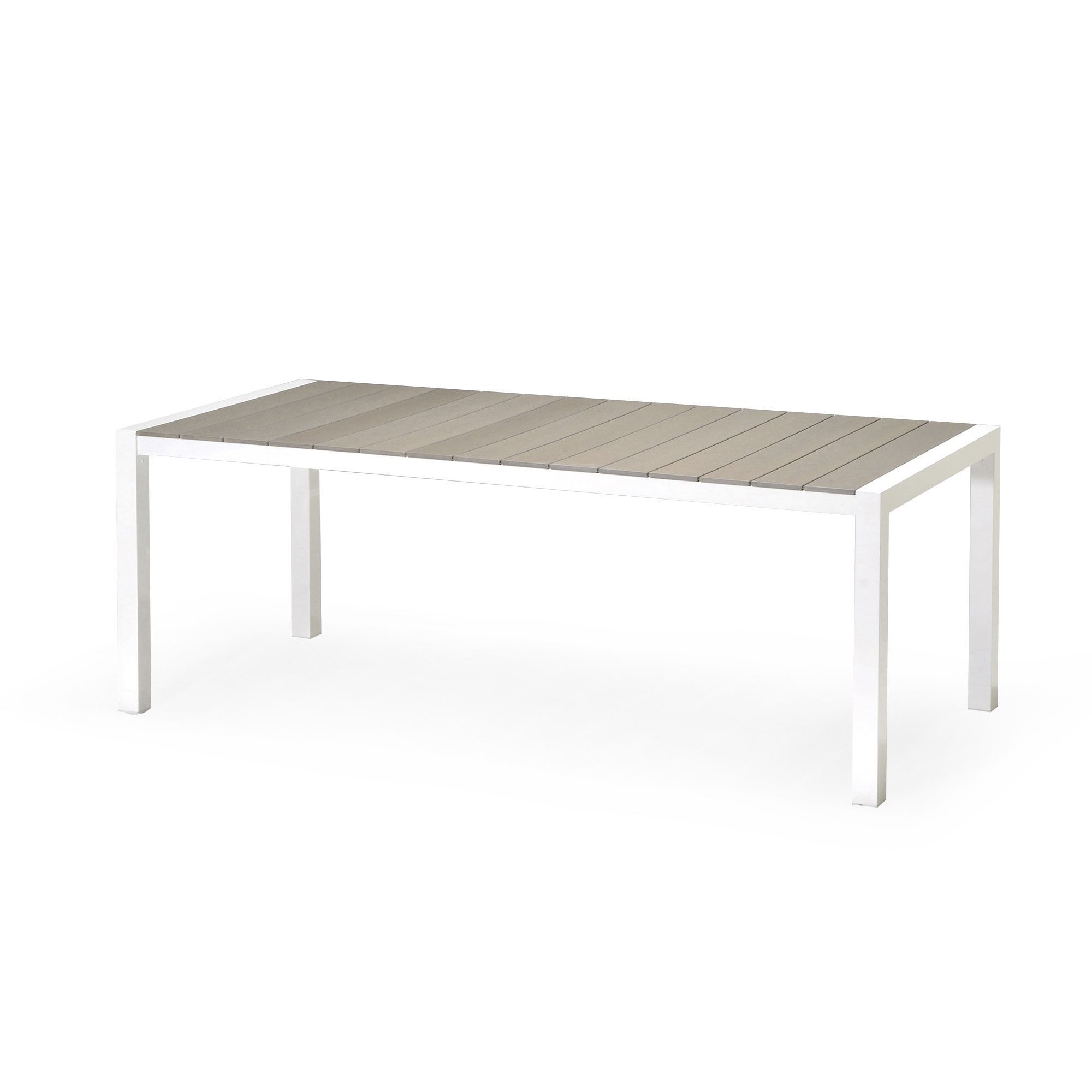 Table de jardin rectangulaire en Durawood® Blanc sable ...
