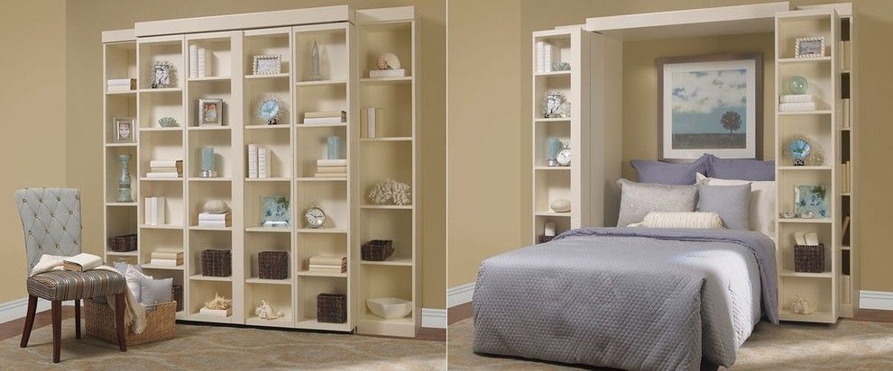 Beautiful Folding Bookcase In Bedroom Traditional With Sliding Bookshelf Next To Hidden Bed Alongside Murphy Bed Ideas And Folding Beds Murphy Bed