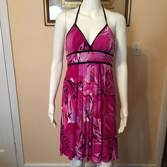 """B Wear Halter Belted Dress Sz S Open for reasonable offer. The item you are about to purchase is a B wear Halter Belted Dress. Size small. Retailed $50. New with tag. If you want more pictures, please leave a comment. To make an offer, please use """"offer"""" button. Thank you! B wear Dresses"""