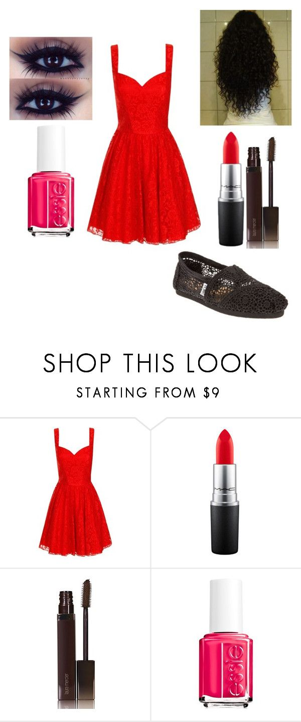 """Untitled #884"" by pooka515 on Polyvore featuring Chi Chi, MAC Cosmetics, Laura Mercier, Essie and TOMS"
