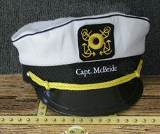 d1b0c5e4c Personalized Yacht CAPTAIN'S HAT perfect for Sailing and any ...