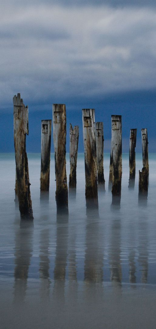 Wooden jetty at Dunedin New Zealand