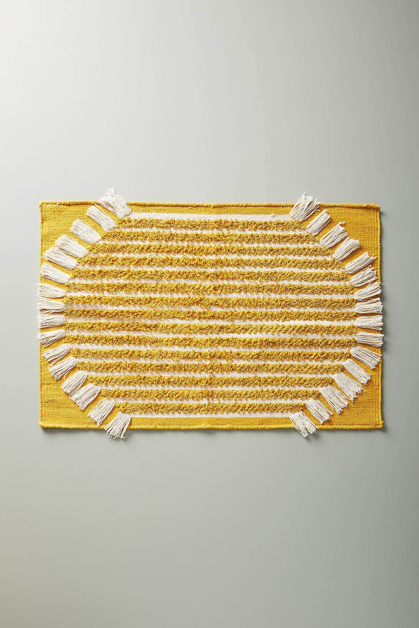 Brooklyn bath mat by anthropologie in yellow