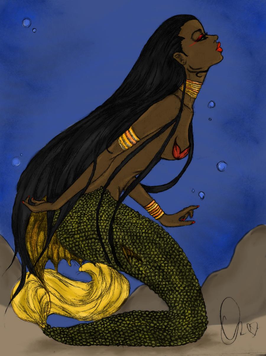 African Mermaid Art
