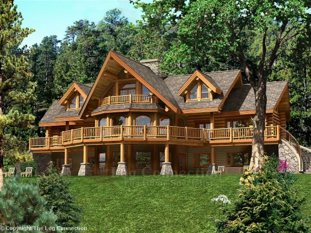Bavarian Dream Log Home Pictures Log Homes Luxury Homes Dream Houses Mountain House Plans