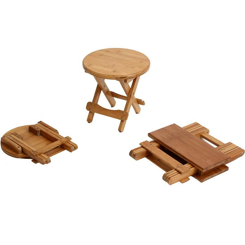 Excellent Simple Fashion Foldable Low Round Wooden Stool Change Shoe Inzonedesignstudio Interior Chair Design Inzonedesignstudiocom