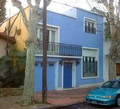 Fachadas de casas en color azul turquesa